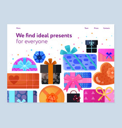 gift boxes flat banner vector image