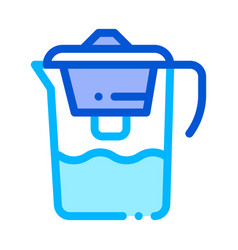 healthy water home filter thin line icon vector image