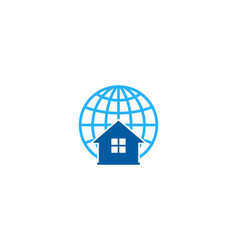 home globe logo icon design vector image