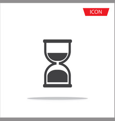 hourglass icon isolated on white background vector image