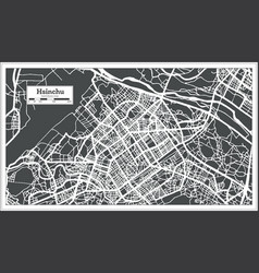 Hsinchu taiwan city map in retro style outline map vector