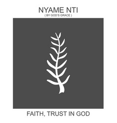 Icon with african adinkra symbol nyame nti vector