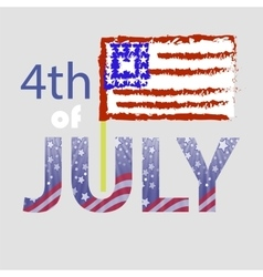 Independence Day of USA American Flag 4 July vector image