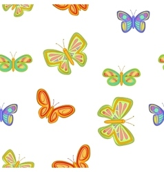 Insects butterflies pattern cartoon style vector image