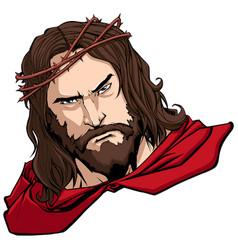 jesus superhero portrait vector image