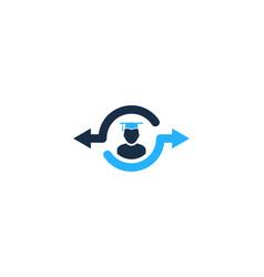 knowledge share logo icon design vector image