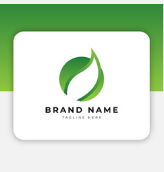 leaf logo design inspiration vector image