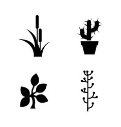 leaf plants simple related icons vector image