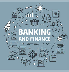 Lines background banking and finance vector
