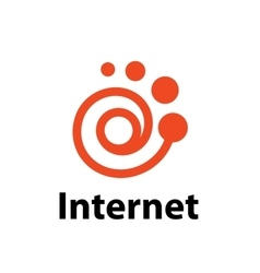Logo internet vector