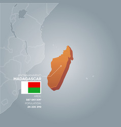 Madagascar information map vector