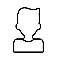 Man silhouette male avatar person people icon vector