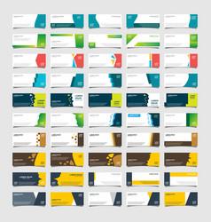 Mega collection 50 abstract bannersmodern vector