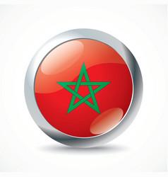 Morocco flag button vector