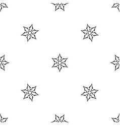 ninja shuriken star weapon pattern seamless black vector image