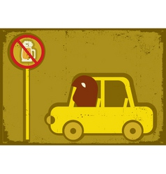 no drink and drive vector image