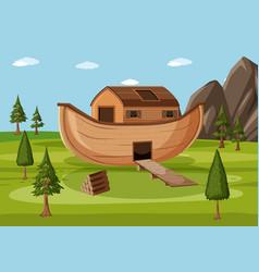 Noahs ark landed on mountains ararat vector
