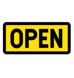 Open sign on white vector