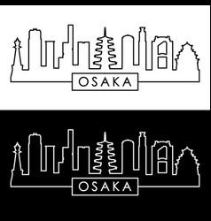 osaka skyline linear style editable file vector image