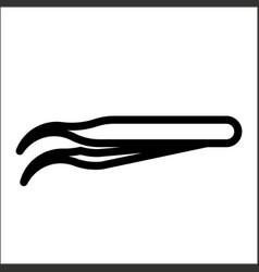 Outline beautiful tweezers icon vector