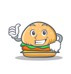 Proud burger character fast food vector