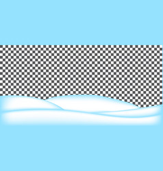 Realistic snowdrift isolated snowy landscape vector
