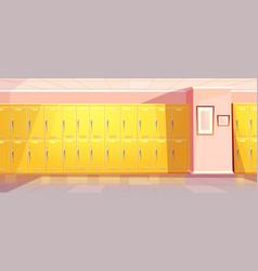 School college corridor hallway with vector