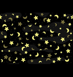 Seamless bapattern with yellow stars vector