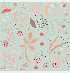 seamless floral pattern with geometrically shaped vector image