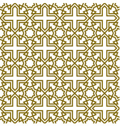 Seamless geometric ornament based on traditional vector