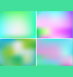 set colorful blur templates for business cards vector image