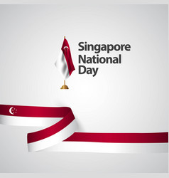 Singapore national day template design vector