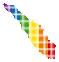 Spectrum pixel dotted sumatra island map vector