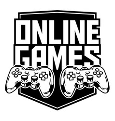 Sport logo gamepads for play game vector