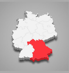 state location within germany 3d map vector image
