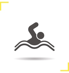 Swimmer icon vector