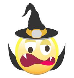 the halloween smiley icon vector image