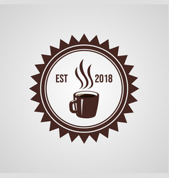 vintage coffee shop logo vector image