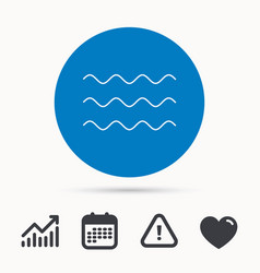 waves icon sea flowing sign vector image