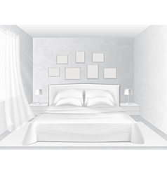 white bedroom vector image