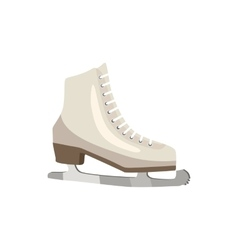 White figure skates icon cartoon style vector image