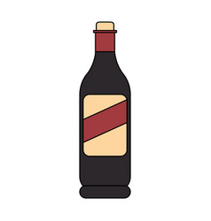 Wine bottle icon image vector