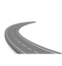 winnding curve road isolated vector image