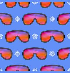 winter ski goggles seamless pattern vector image