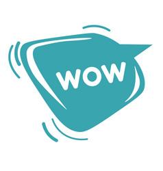 Wow sticker online communication emoji vector
