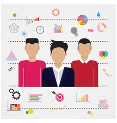 Young businessmen and business idea icon vector