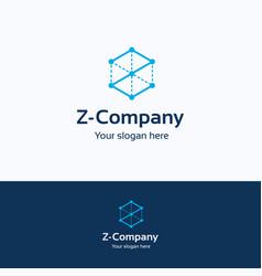 z company logo vector image vector image