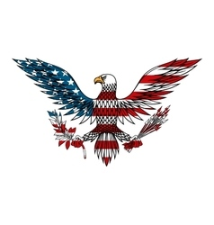 American eagle colored in USA flag colors vector image vector image