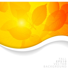 autumn abstract vector image vector image