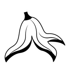 banana peel isolated icon vector image